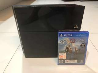 WTS- PS4 500GB + New God of War 4 game