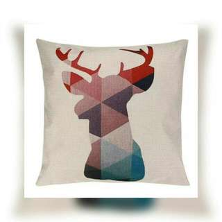 Antler/Deer Cushion Cover Only