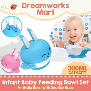 Infant Baby Feeding Bowl Set | Anti-slip | Suction Base