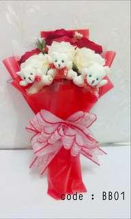 EV Bear bouquet