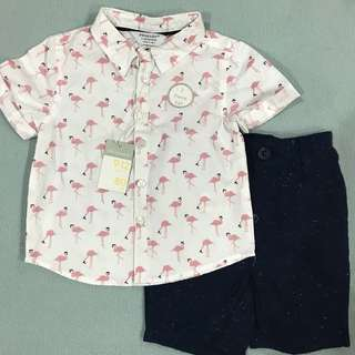 Primark Set of Flamingo Size 9-12 months