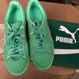 Puma mint green Jigsaw Puzzle Pattern Sneakers