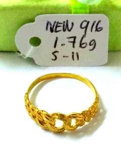 (Authentic New 916) Cincin Size 11