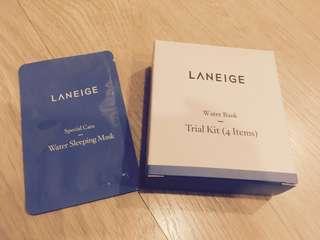 Laneige water bank trial kit (with water sleeping mask sample!)