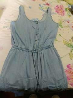 EUC Forever 21 denim jumpsuit