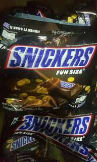 SALE  SNICKERS FUN SIZE @ 185.00