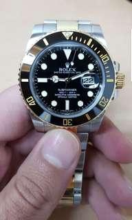 Rolex submariner 116613LN black dial 18k