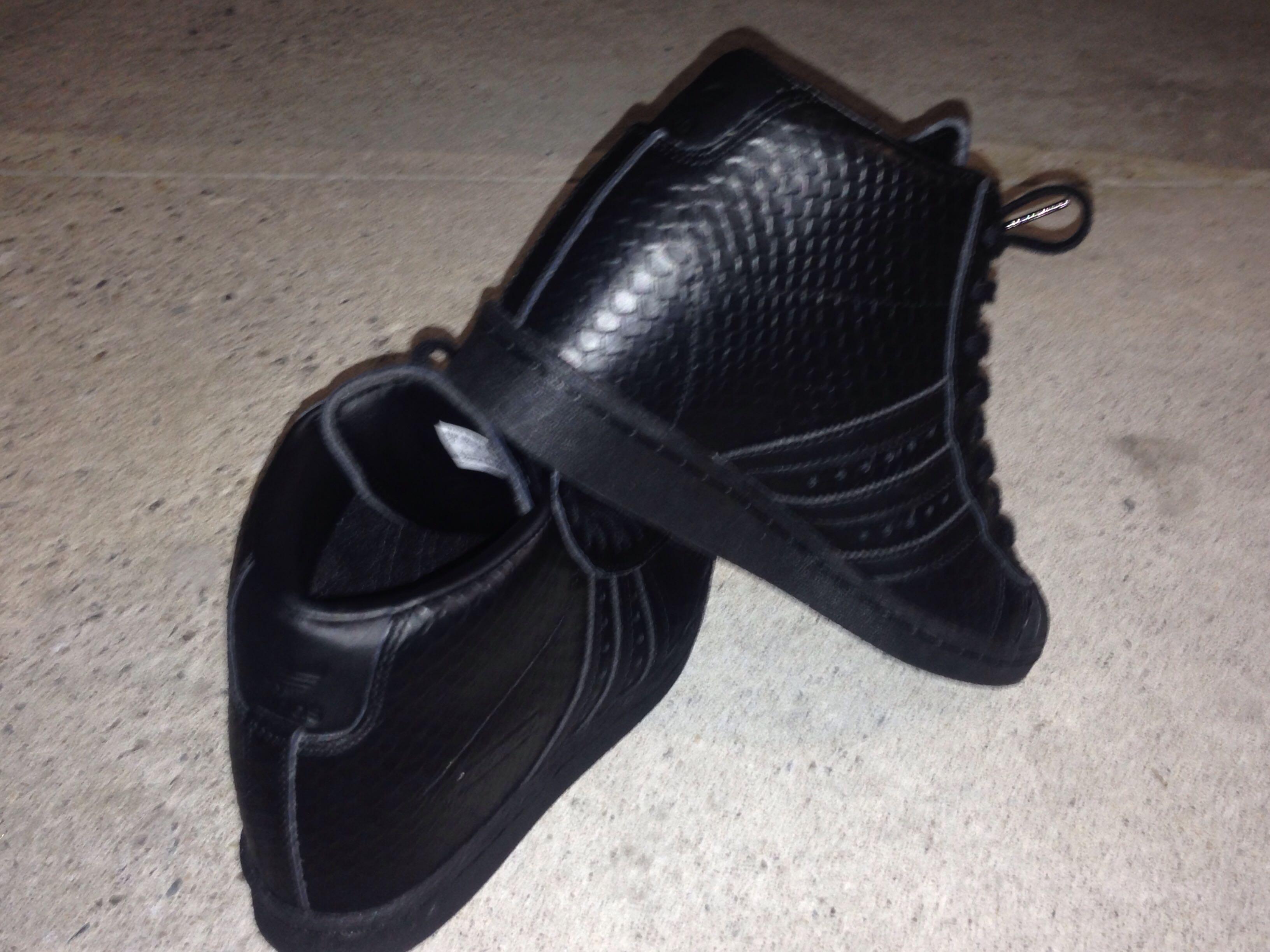 Adidas Superstar Up Black Snakeskin Wedge Sneaker, Women's