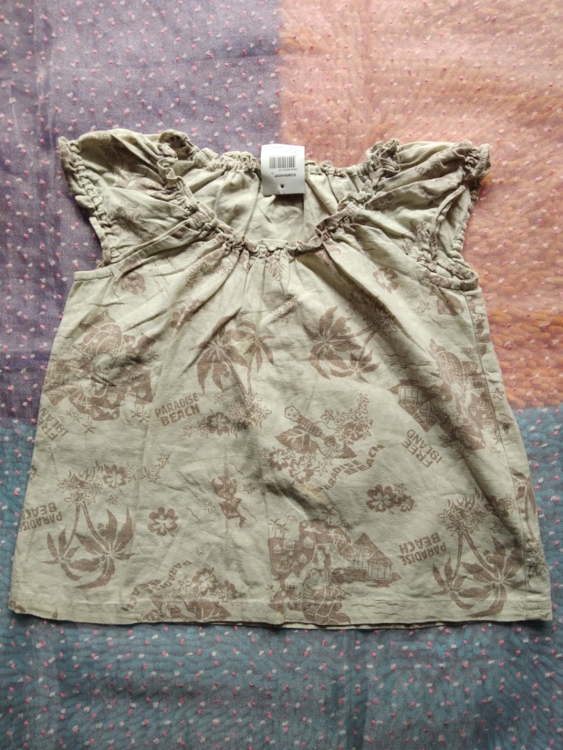 Atasan Cewek Import Polos Tunik Hem Sabrina Blazer Setelan Baju Anak Perempuan Photo