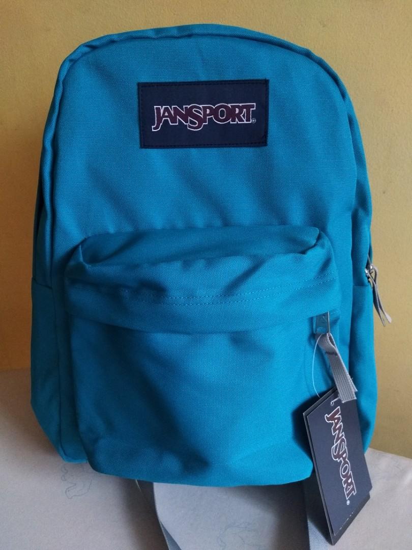 Bluegreen customized gray medium size jansport authentic backpack