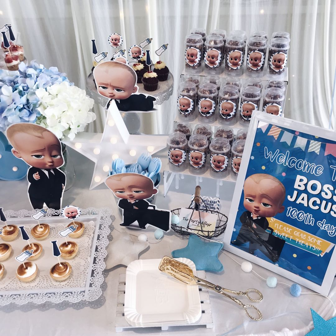 Boss Baby Table Decor And Backdrop Design Craft Others