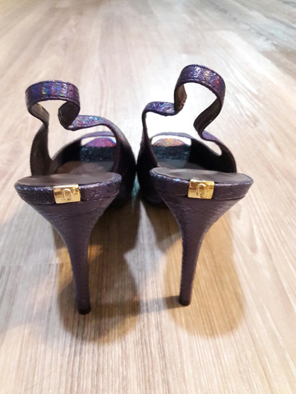 Brand new ladies slingback peek toe heels shoes