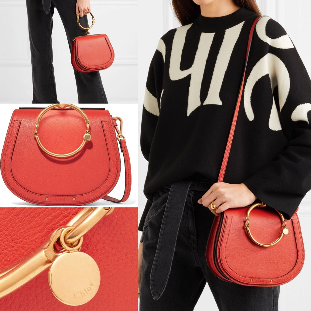 CHLOÉ medium orangered Nile bag的圖片搜尋結果