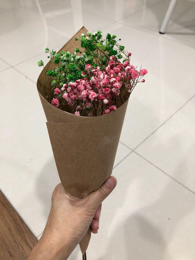 Dried baby breath flower bouquet design craft handmade craft on photo photo photo izmirmasajfo