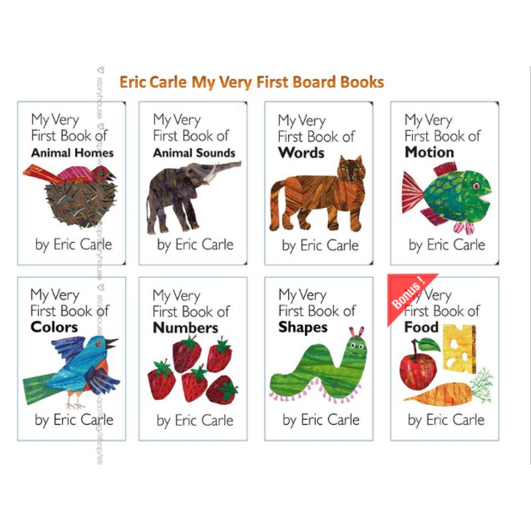 Eric Carle - My Very First Book of 7 books + Food Gift Collection ...