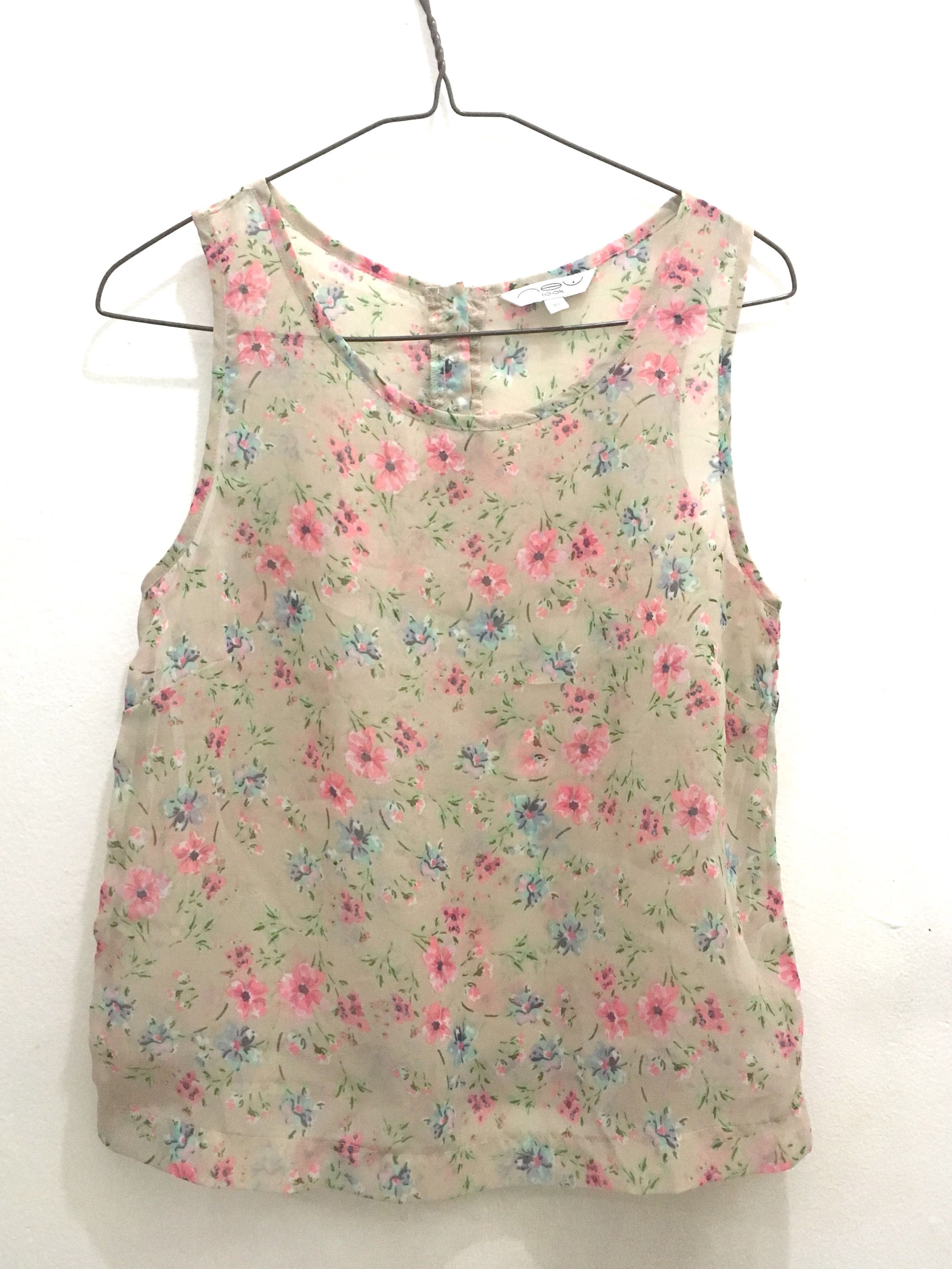 Floral See-through Top, Women's Fashion, Women's Clothes, Tops on Carousell