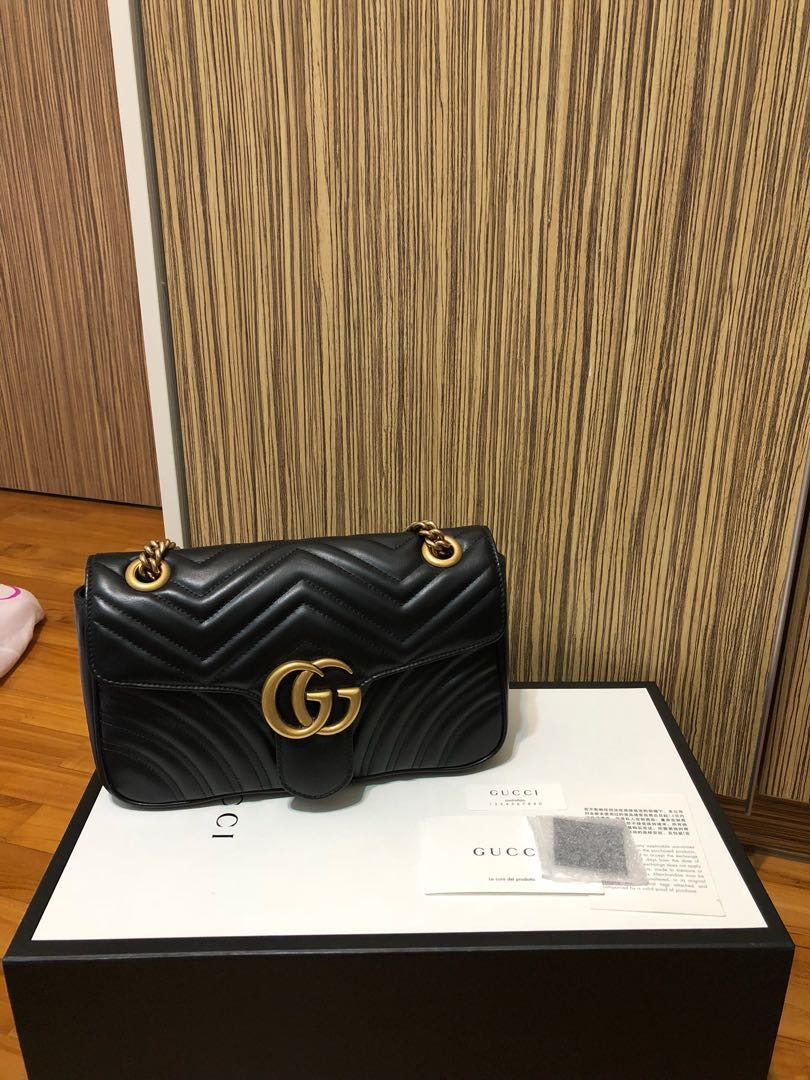 7d55d66dbad3 Gucci Marmont Small, Luxury, Bags & Wallets, Handbags on Carousell