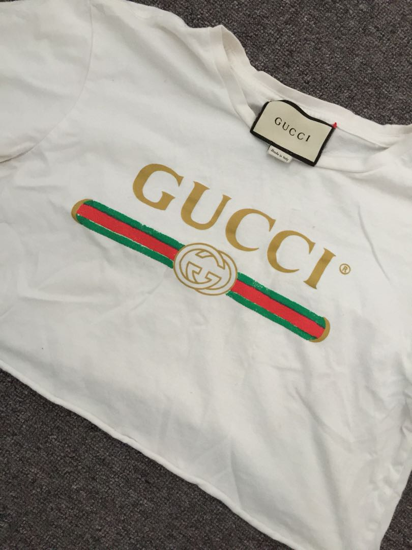 66001fae6 Gucci Small Crop Top Tshirts, Women's Fashion, Clothes on Carousell