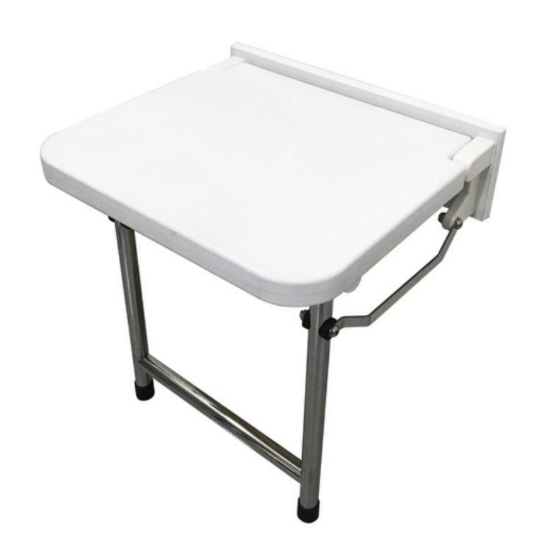 HappyBath Deluxe Wall Mounted Shower Seat With Legs, Everything Else ...