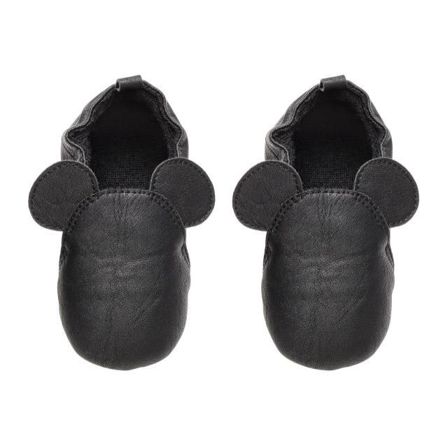 804feb71a425 H M Baby Toddler Kids Mickey Mouse Black Shoe Slipper Sandals ...