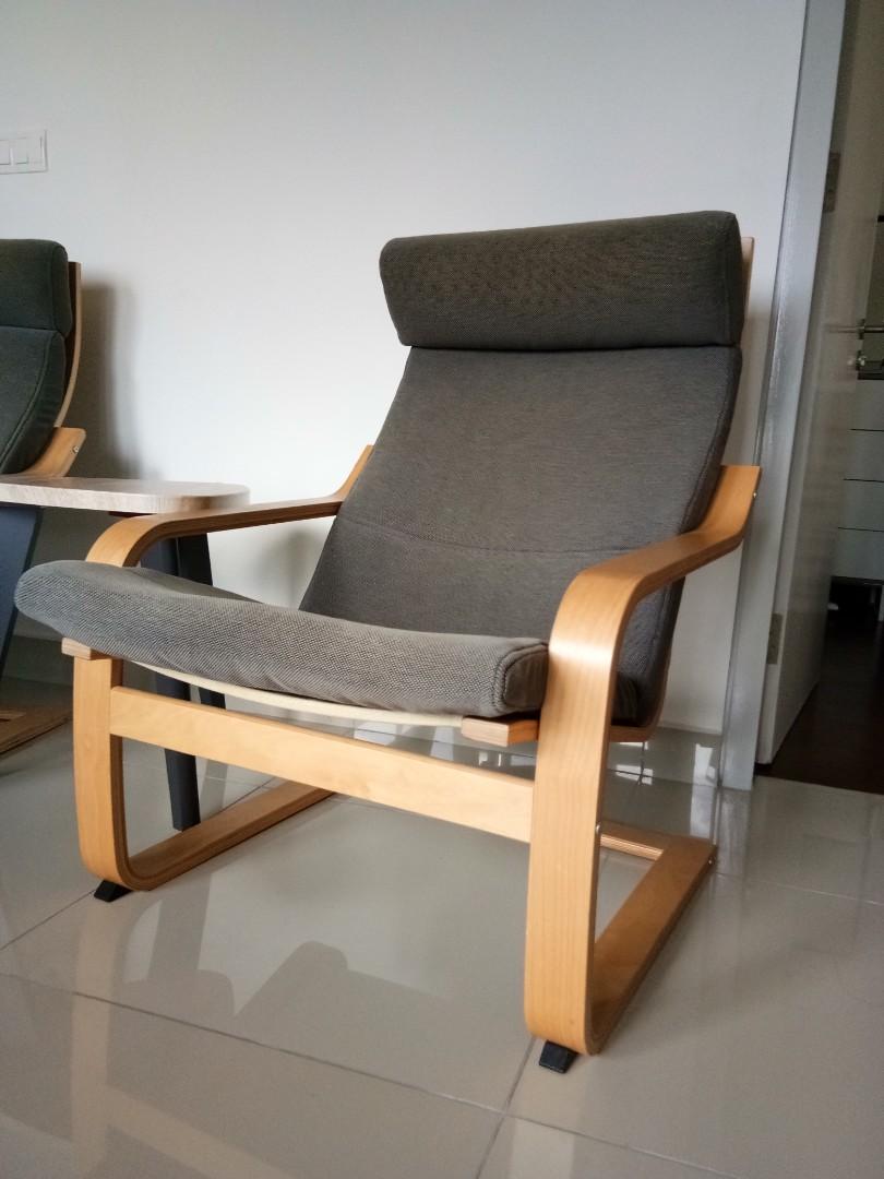 ikea poang, home & furniture, furniture on carousell