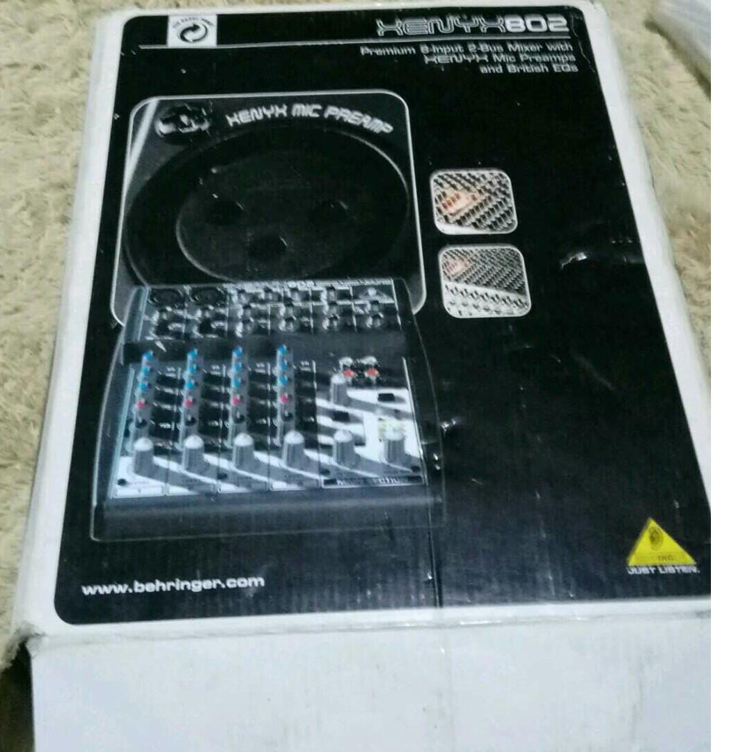 Jual Mixer Behringer Xenyx 802 Box Lengkap