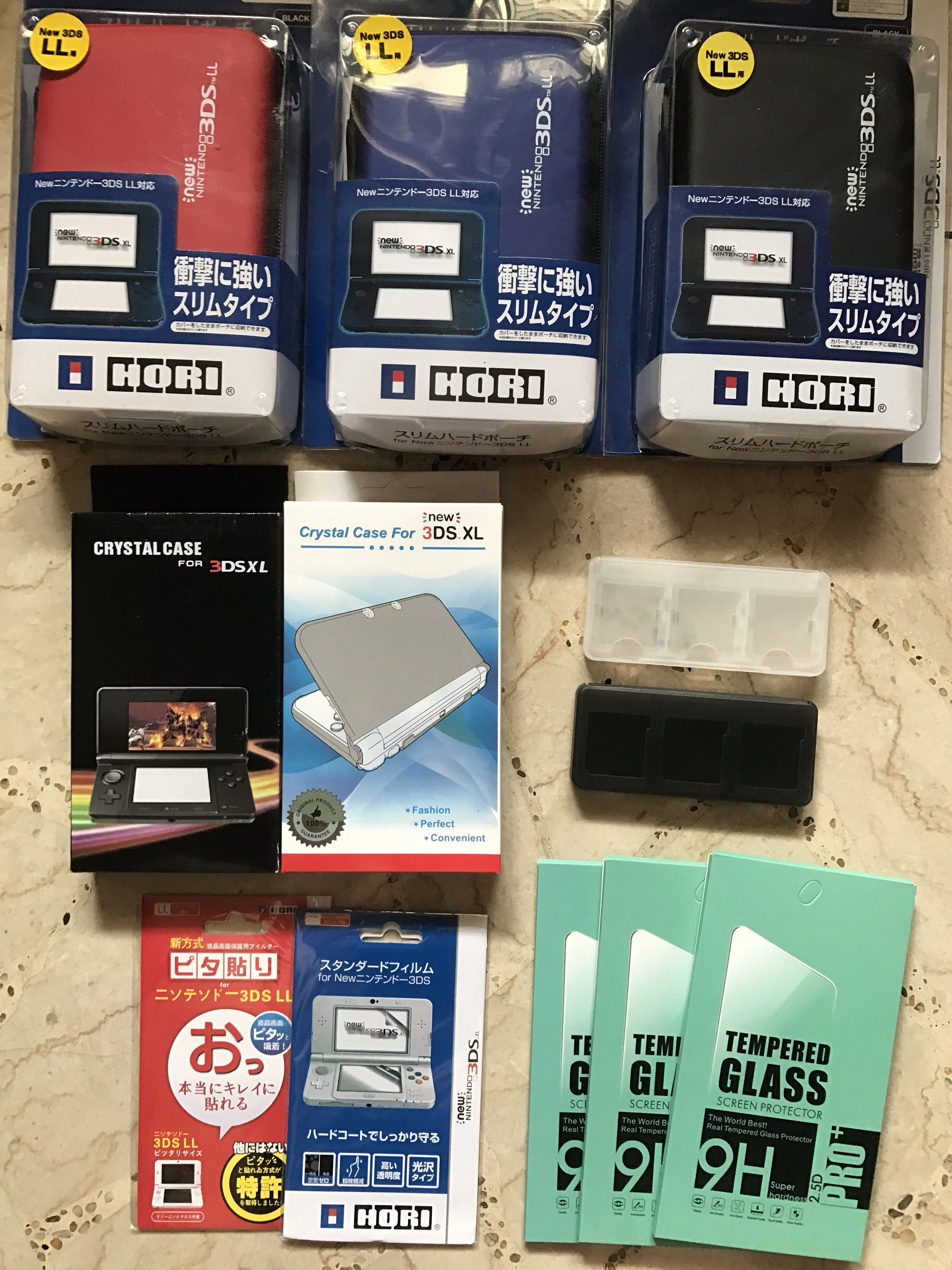 New 3ds Xl Ll And Old Accessories Toys Games Video Screen Tempered Glass For Hori Photo