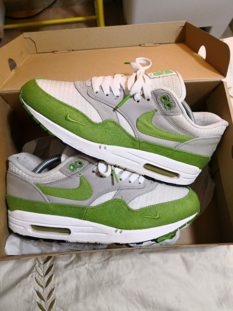 various colors 2bb04 52b30 Nike Air Max 1 x Patta Chlorophyll, Men s Fashion, Footwear, Sneakers on  Carousell