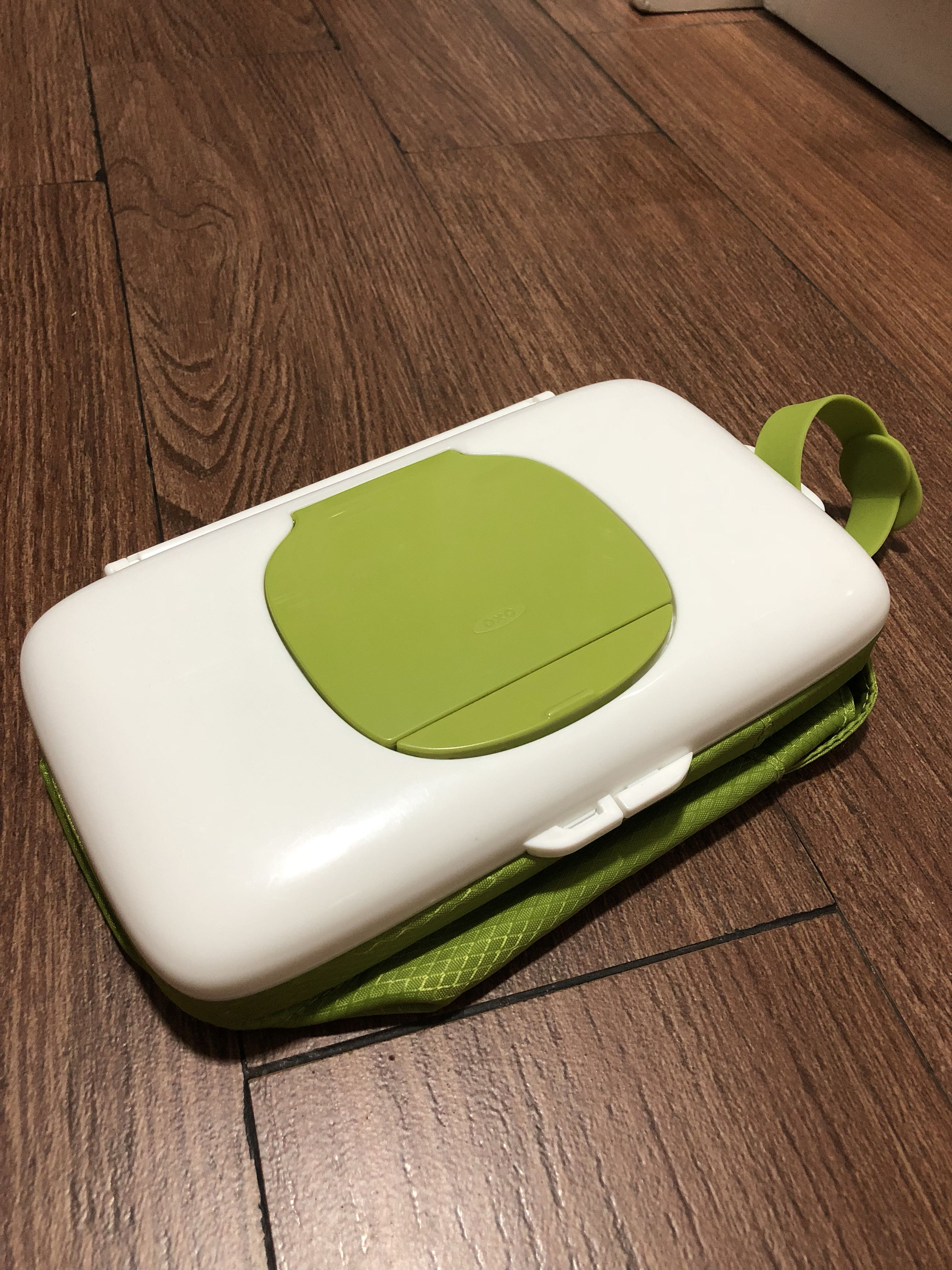 Oxo Tot On The Go Wipes Dispenser & Diaper Pouch - Green, Babies & Kids, Babies Apparel on Carousell
