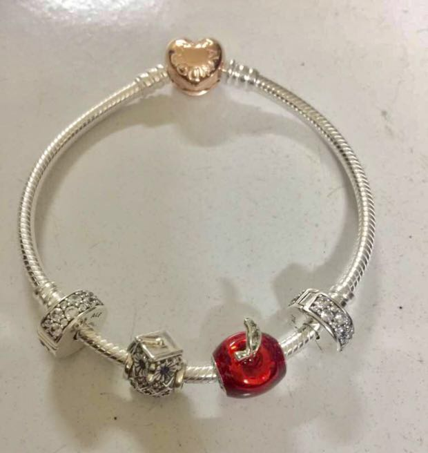 5b6a02879 Pandora charm (Disney snow white's apple), Women's Fashion, Jewellery on  Carousell