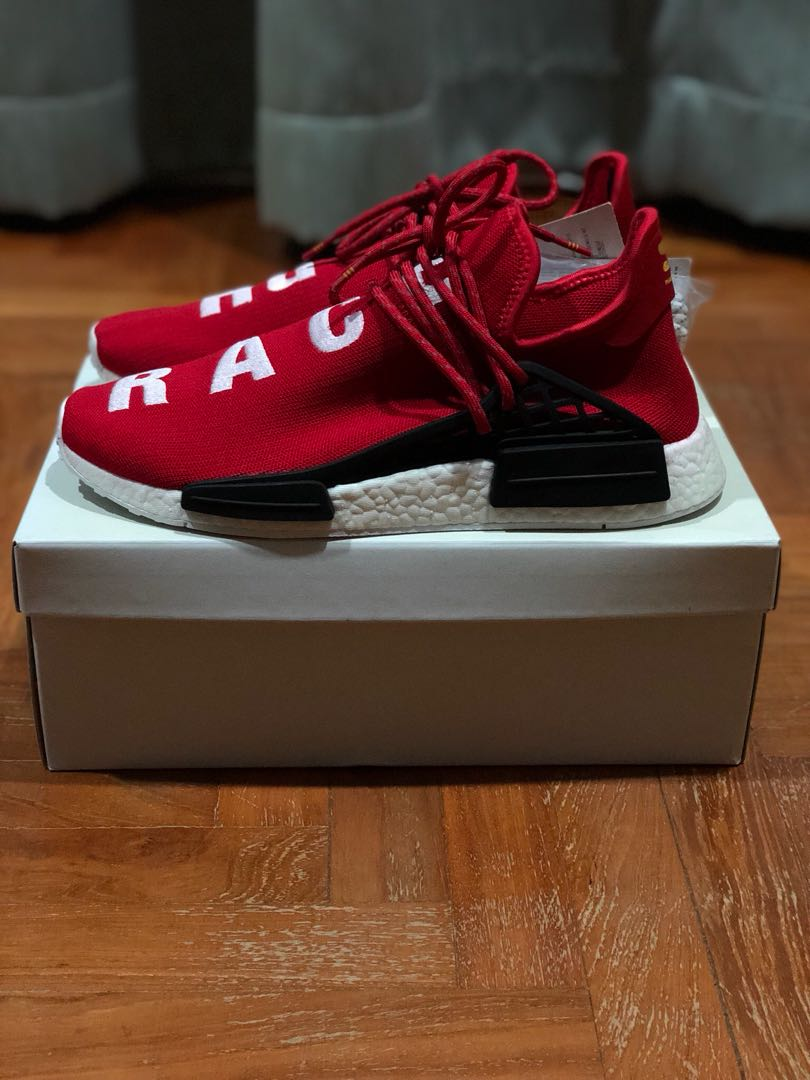 new concept ddd8d 264d4 Pharrell Williams x Adidas Human Race NMD OG Scarlet Red