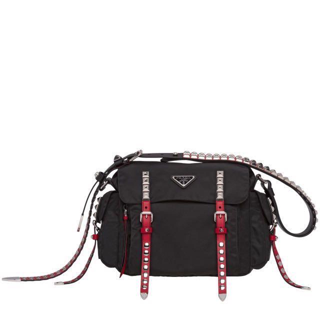 7e50dfa563ca prada authentic black nylon shoulder bag
