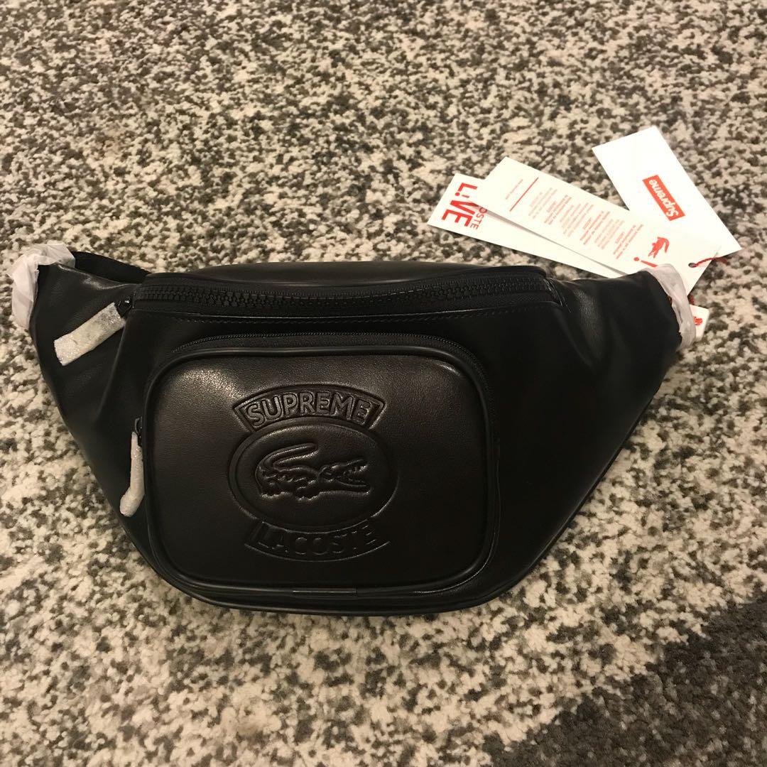 5ef34a943620 Supreme Lacoste Waist Bag Black