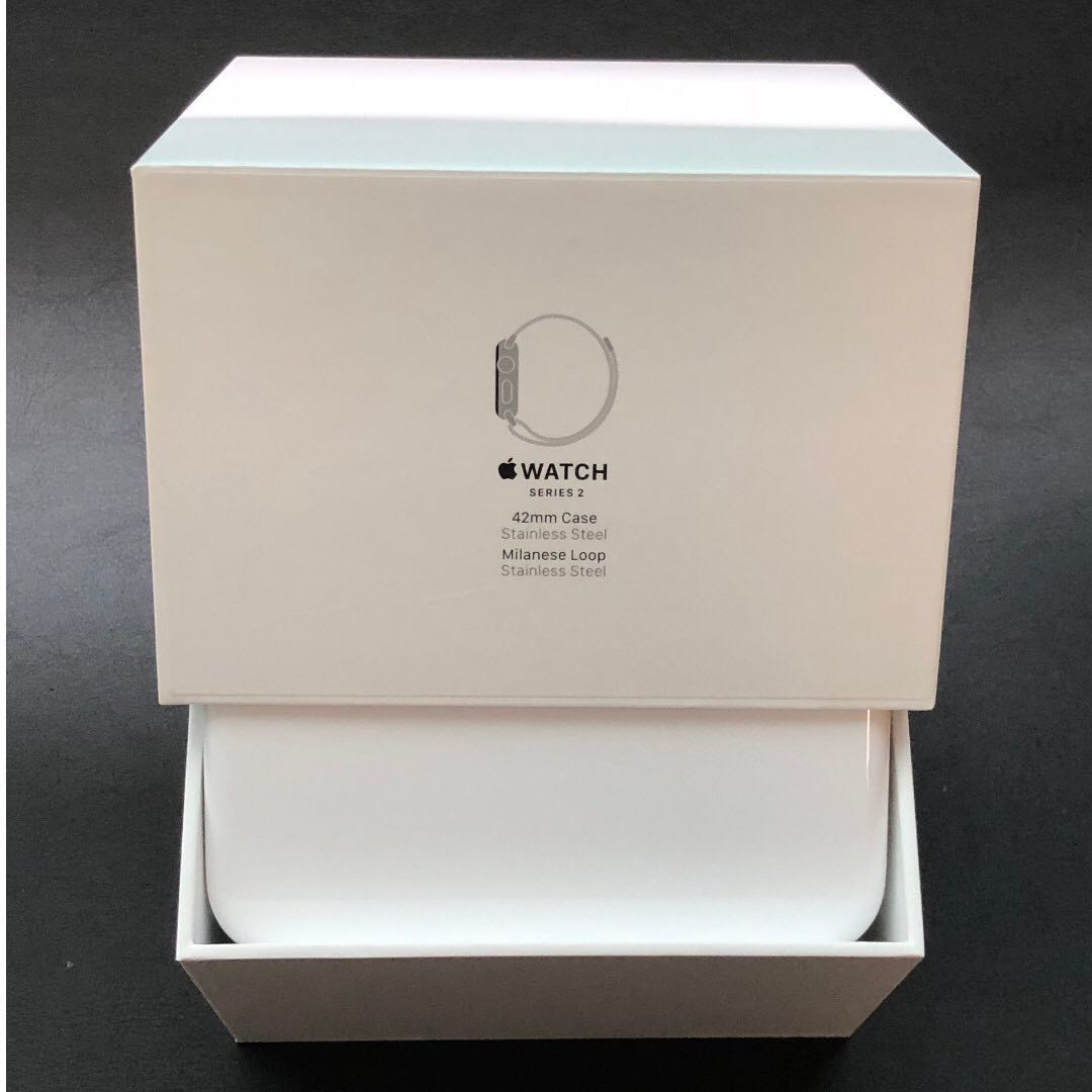 Used Apple Watch Series 2 42mm Stainless Steel Case With Milanese