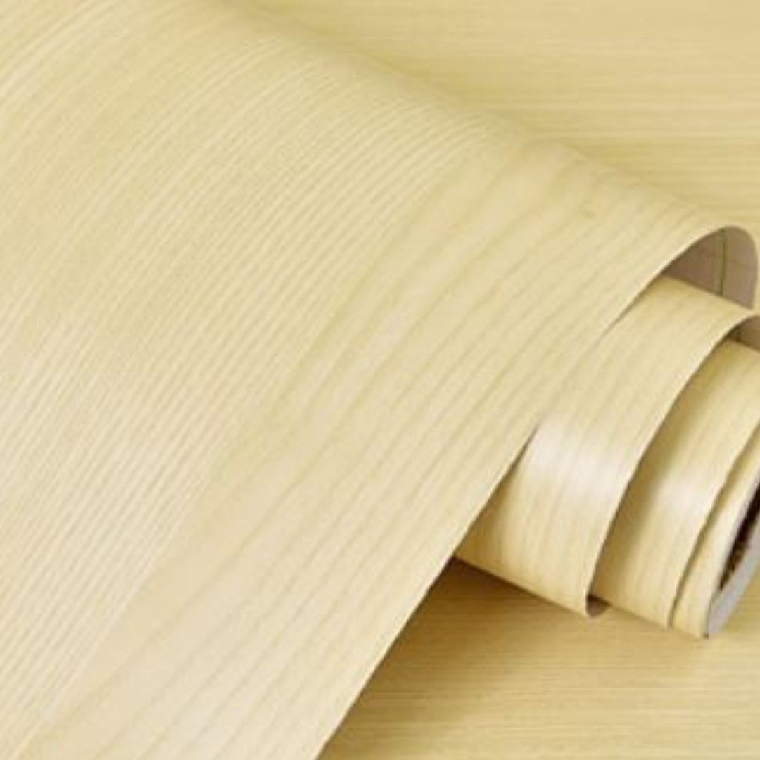 Woodgrain Beige Self-Adhesive Wall Home Decor Contact Paper ...