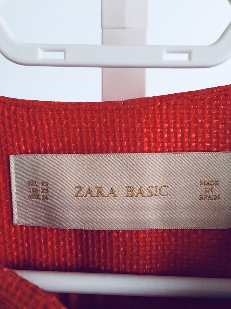 Zara Coat in Red - Size XS