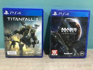 PS4 Mass Effect Andromeda and Titanfall 2