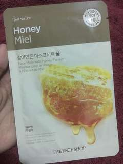 Real nature honey miel face mask