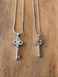 Sterling Silver Key Necklaces