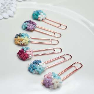 flower planner paper clip - planner addict - charm flower - flower bookmark - flower paper clips