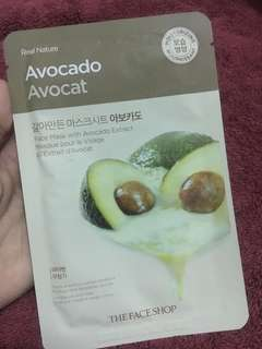 Real nature avocado avocat face mask