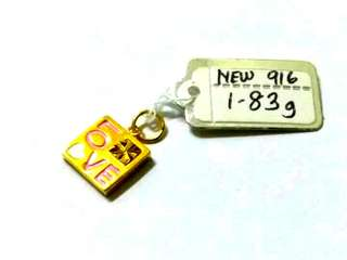 (Authentic New 916) Enamel Pendant