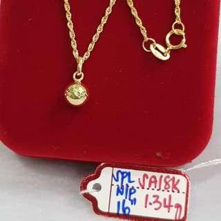 Necklace w/ Pendant 18k SAUDI GOLD