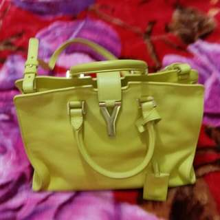 Ysl yellow color cabas