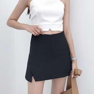 黑色百搭短褲裙