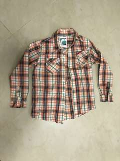 Old navy boys Long sleeve checked shirt - size 8