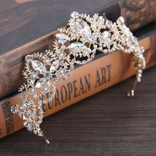 Princess Crown Baroque Medieval Diamonds Hair Accessory