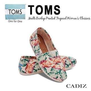 🚚 Toms 懶人鞋花款