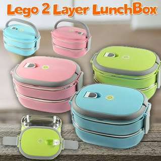 Lego 2 Layer LunchBox FREE POSTAGE