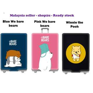 Ready stock👍 Luggage suitcase elastic protector cover We bare bear , Line brown, Winnie the pooh